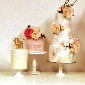 choice of wedding modern boho design buttercream wedding cakes in North Wales