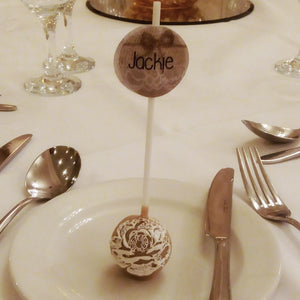 Cake Pop Place Settings