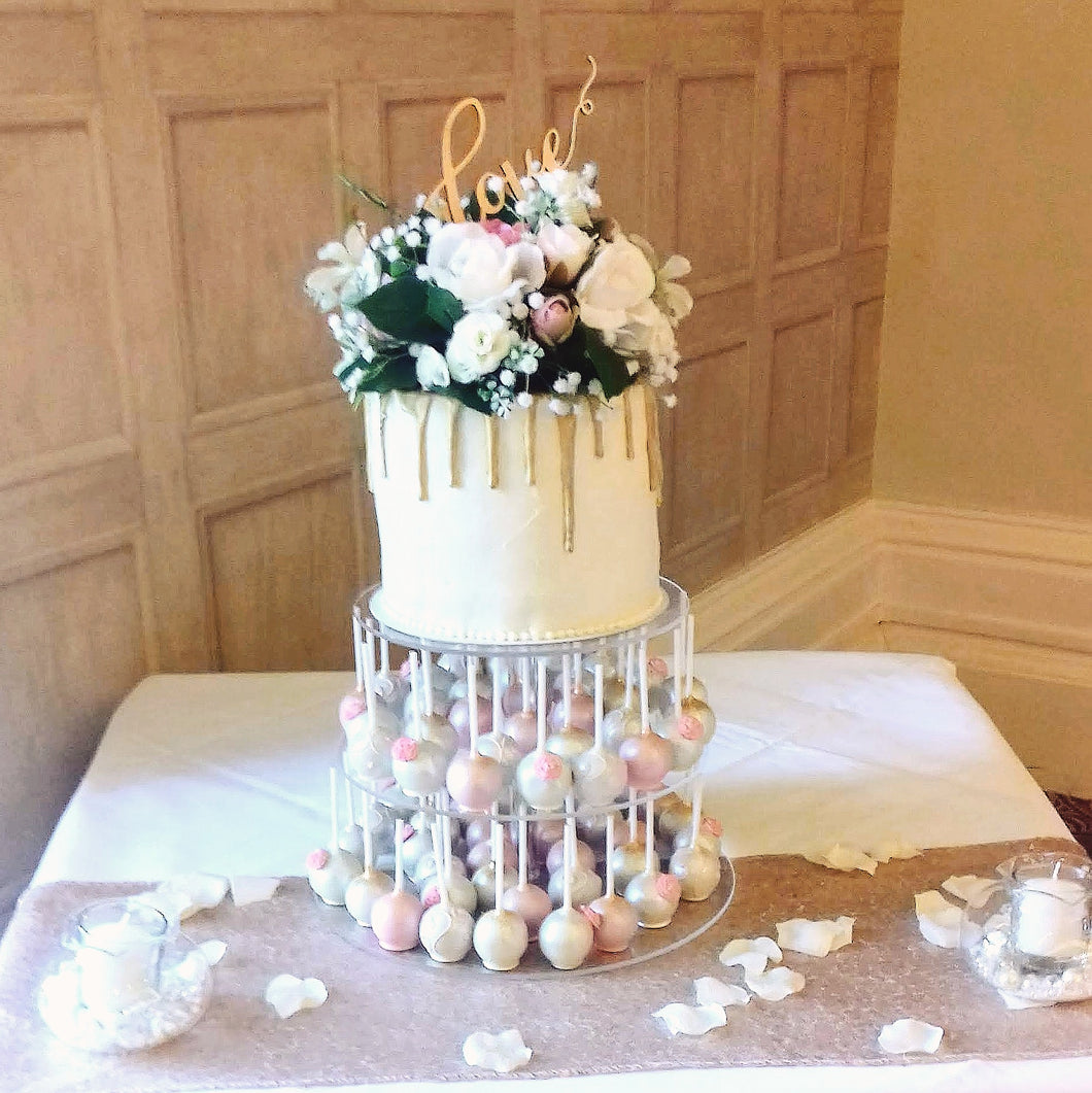 Tower of Treats Wedding Cake