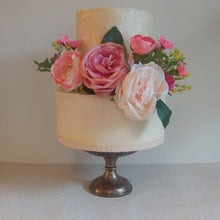Load image into Gallery viewer, small boho wedding cake 2 tier pink blush flowers