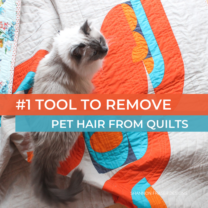 #1 Tool to Safely Remove Pet Hair from your Quilts (+ a cautionary tale)
