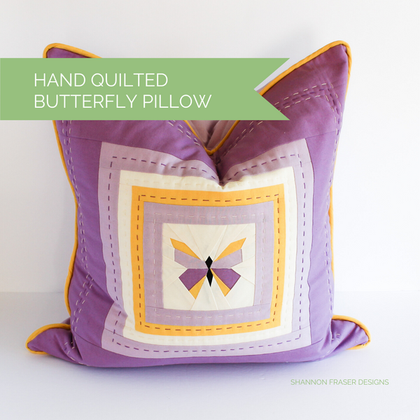 Quilted Butterfly Pillow - Q2 FAL