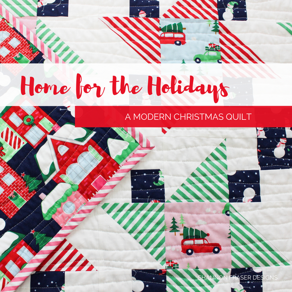 Home for the Holidays Irish Vortex Quilt | A modern Christmas quilt