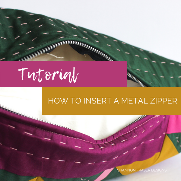 How to Insert a Metal Zipper in Your Pillow