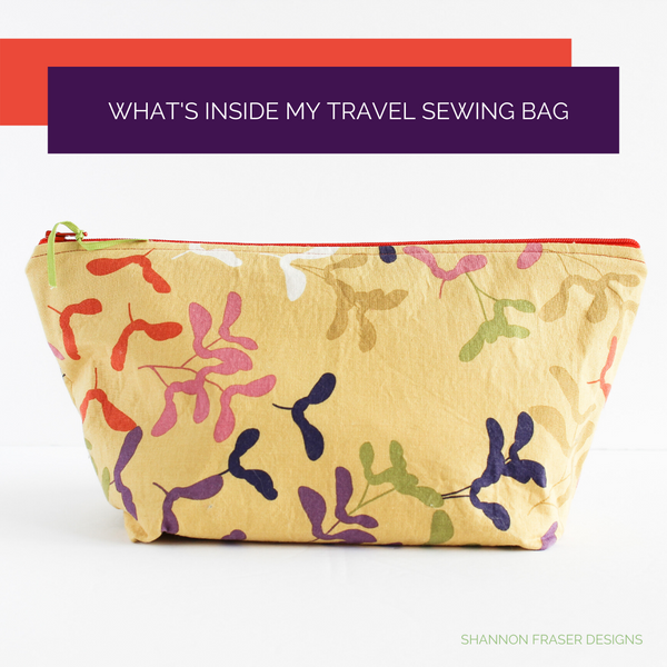 What's Inside My Travel Sewing Bag