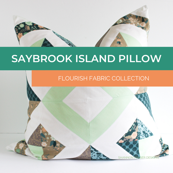 Saybrook Island Pillow featuring Flourish Collection