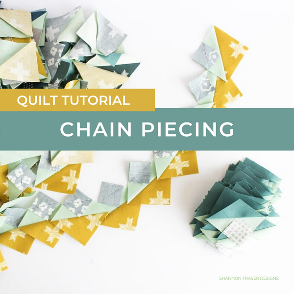Chain Piecing Quilt Tutorial | A fun and quick quilting technique to join your quilt blocks
