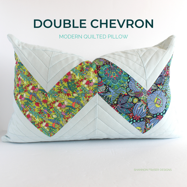Double Chevron Lumbar Pillow - Fantasy Collection & Essex Linen
