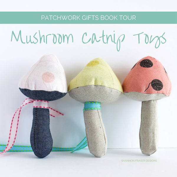 Mushroom Pinnies with a Twist | Patchwork Gifts Book Tour