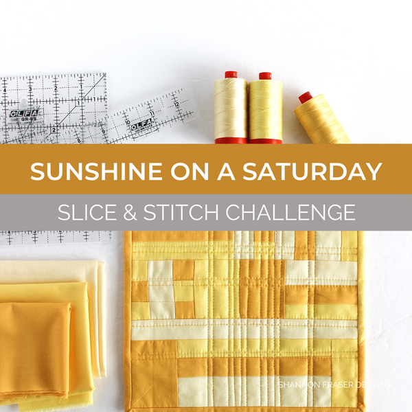 Sunshine on a Saturday Morning Mini Quilt | Aurifil Thread & Olfa September Slice & Stitch Challenge
