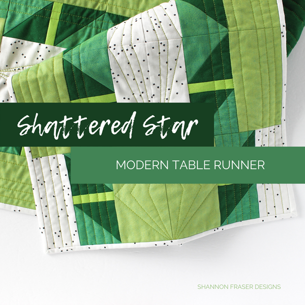 Shattered Star Table Runner Pattern