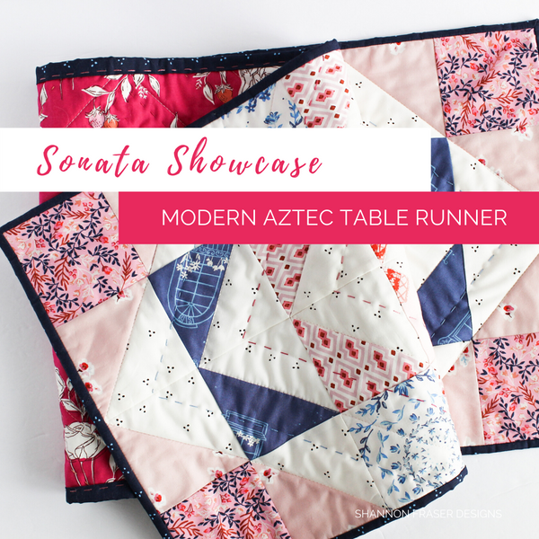 Sonata Showcase | Modern Aztec Quilted Table Runner