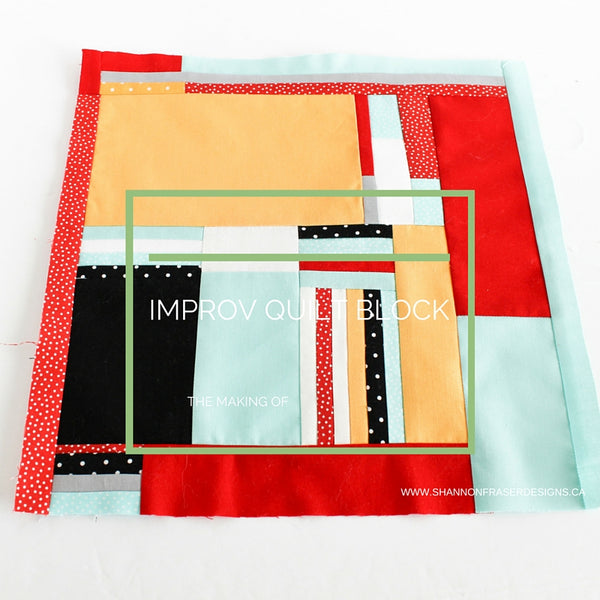The Making of an Improv Charity Quilt Block