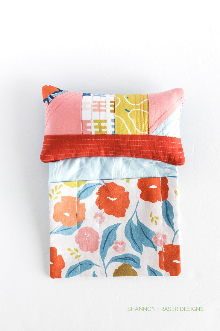 Rollakan fabric from FIGO Fabrics featured in the Sit 'n Sew Pincushion | 7 Handmade gift ideas for Mother's Day | Shannon Fraser Designs