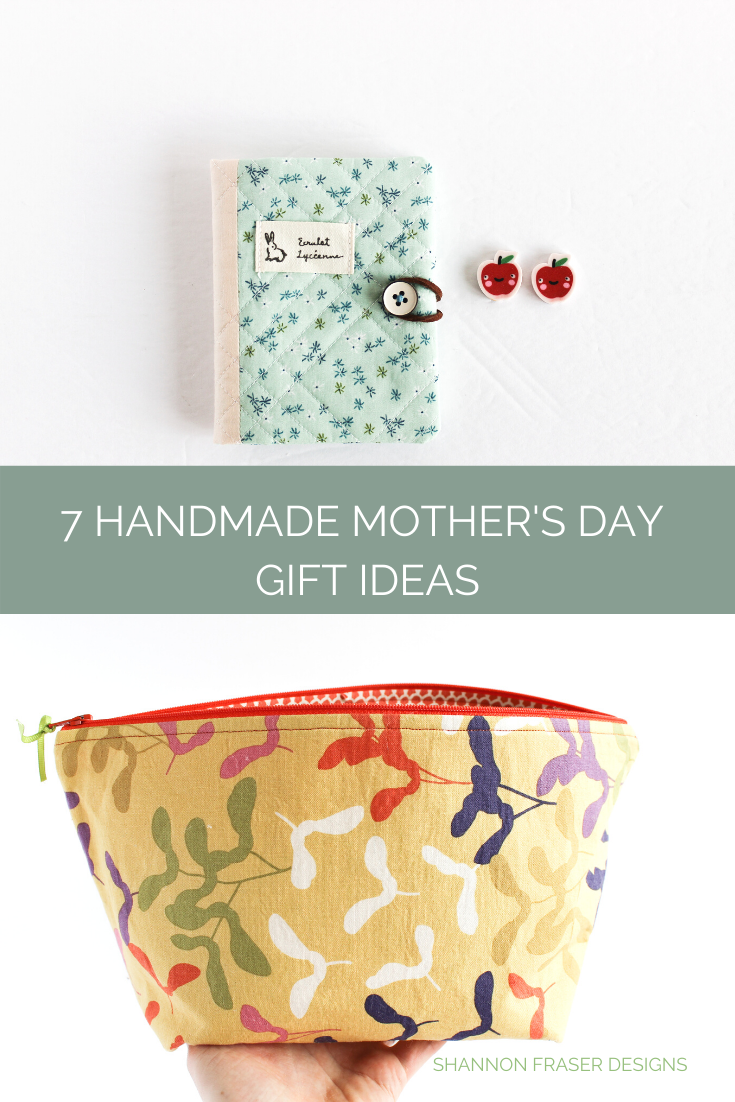Handmade needle book and handmade zip pouch | 7 handmade gift ideas for Mother's Day | Shannon Fraser Designs