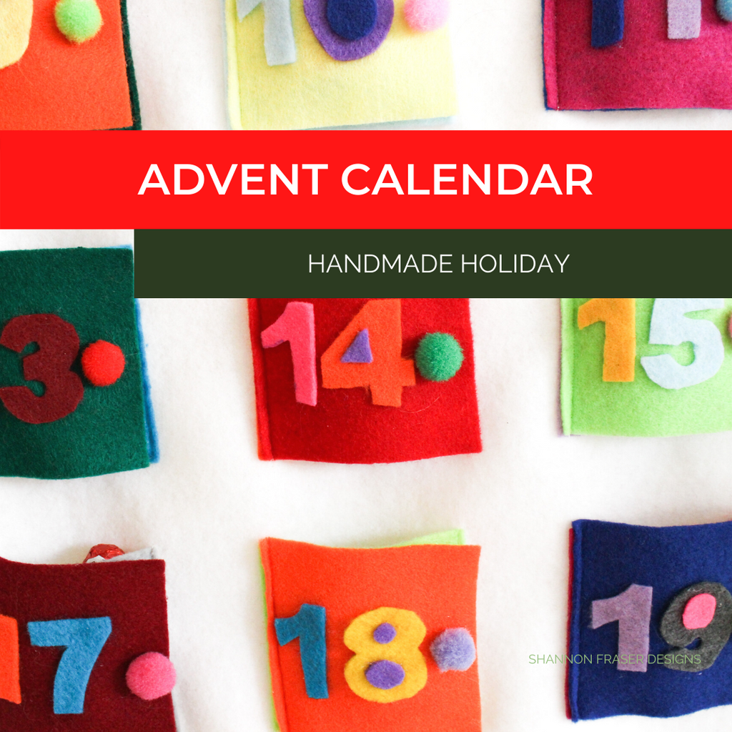 Advent Calendar close-up | Shannon Fraser Designs
