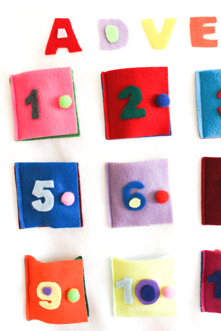 Close up of Advent calendar doors | Shannon Fraser Designs