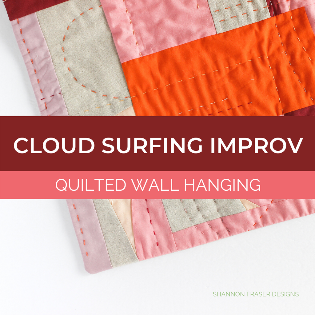 Cloud Surfing Improv Quilted Wall Hanging | Shannon Fraser Designs #wallart