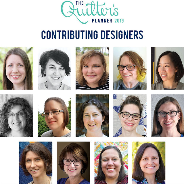 Featured designers of the 2019 Quilter's Planner