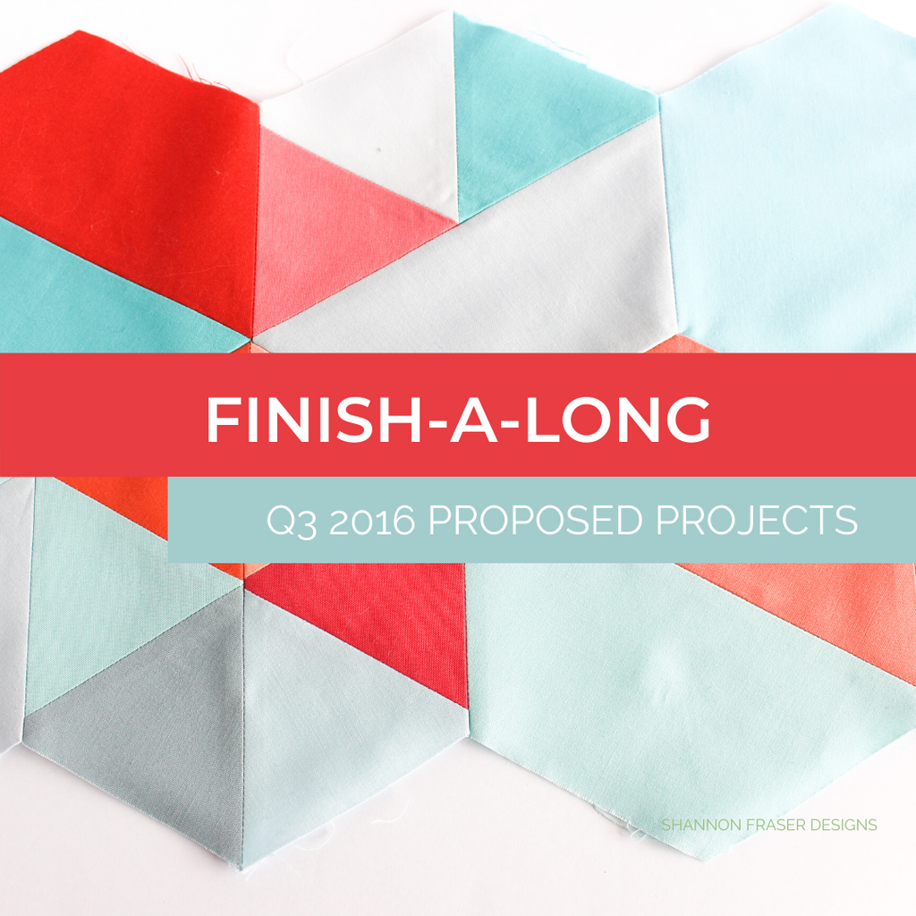Colorful Hexies for Weight of Love quilt | Q3 2016 Finish-a-Long | Shannon Fraser Designs
