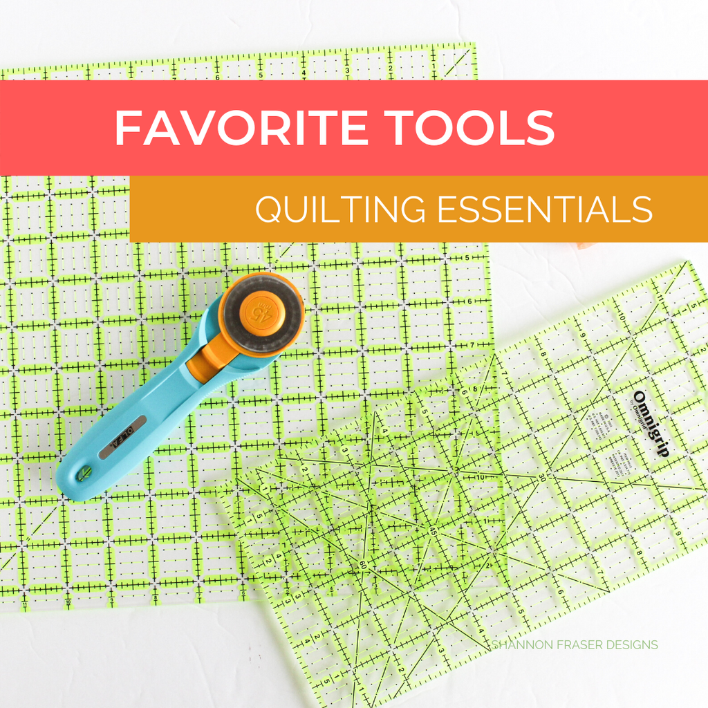 Omnigip rulers + Olfa splash rotary cutter | Favorite quilting tools