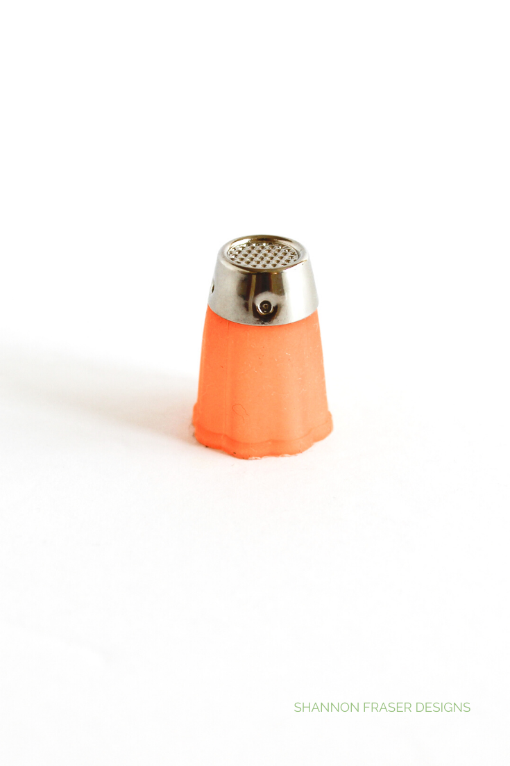 Clover rubber thimble in orange size small | Favorite Quilting Tools | Shannon Fraser Designs #sewing #quilting