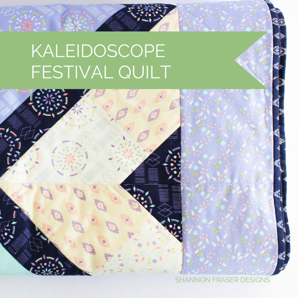 Triangle block details of the Festival Quilt featuring Kaleidoscope Collection | Shannon Fraser Designs