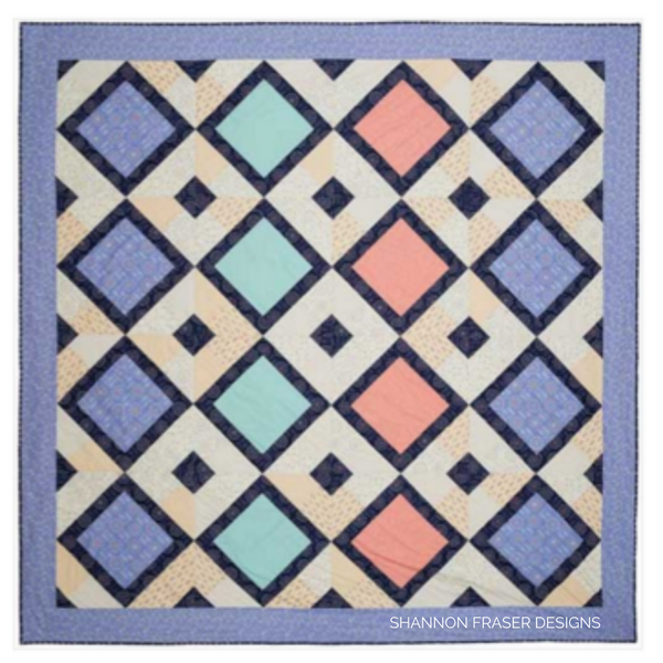 Festival Quilt featuring Kaleidoscope collection | Shannon Fraser Designs