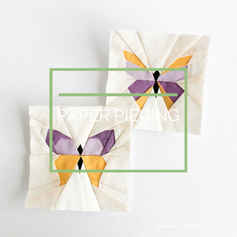 Foundation paper pieced butterflies | FPP Tutorial | Shannon Fraser Designs