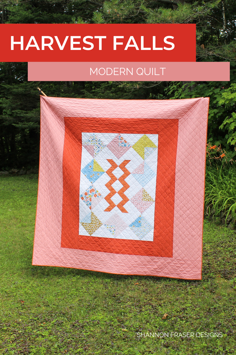Harvest Falls quilt in the wild | featured in Love Patchwork and Quilting Magazine | Shannon Fraser Designs