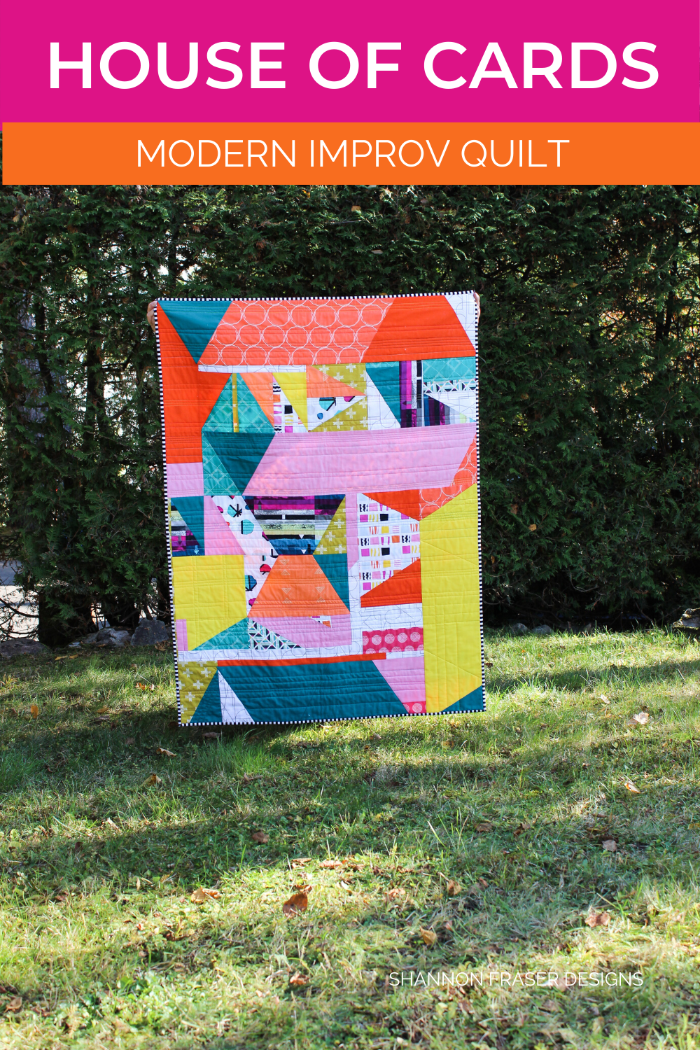 House of Cards improv quilt in the wild | Shannon Fraser Designs