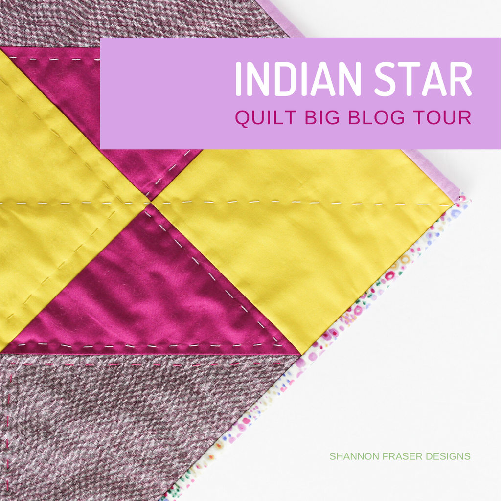Indian Star quilted wall hanging | Quilt Big Book Tour | Shannon Fraser Designs #quiltedwallhanging