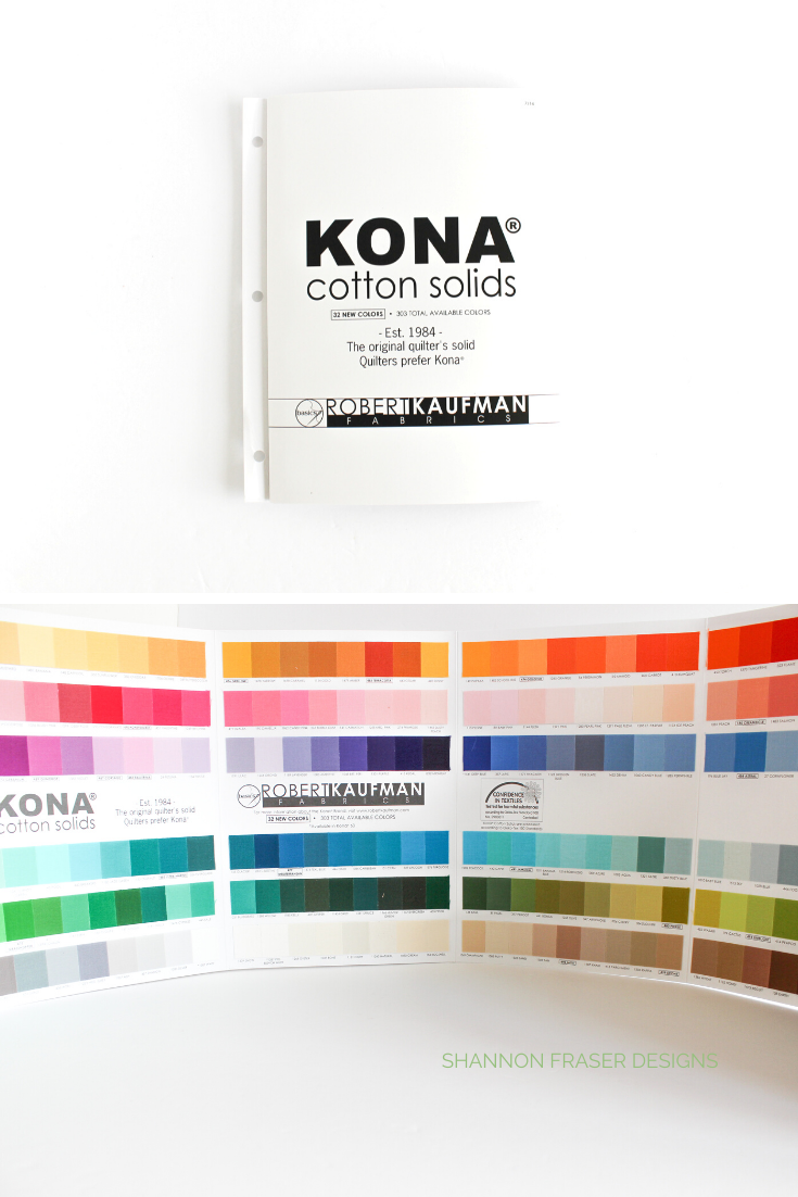 Kona Cotton fabric color card