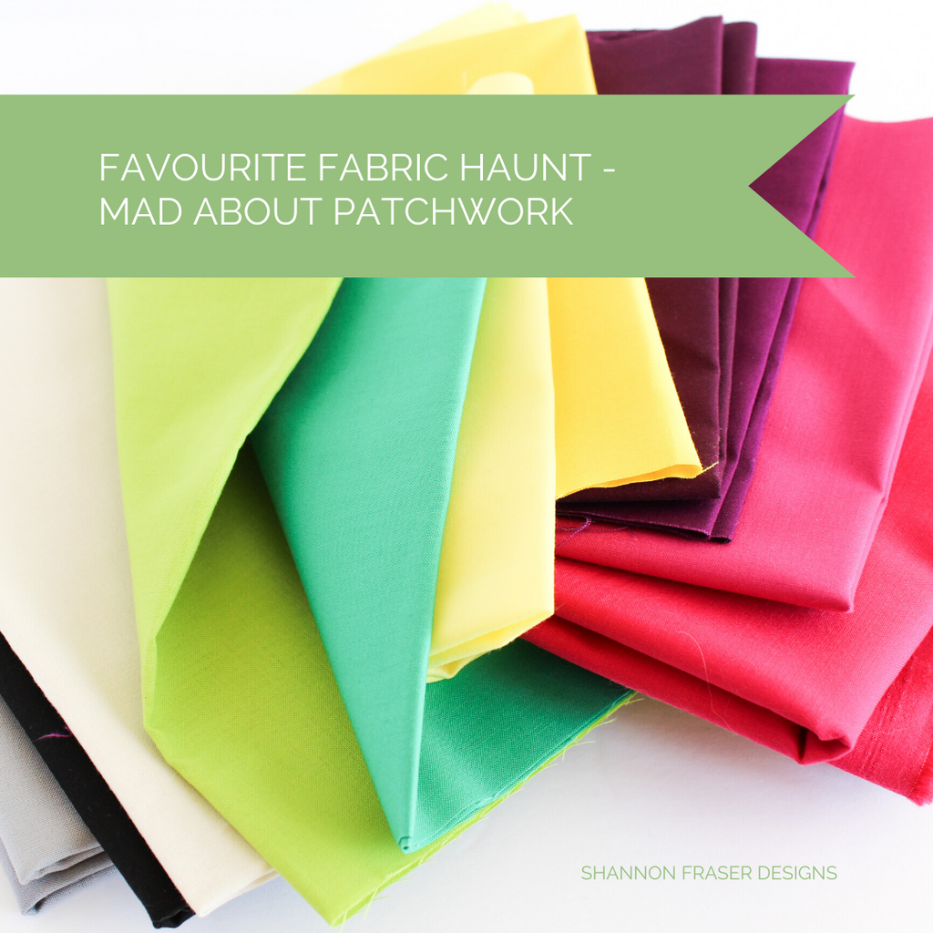 Kona Cotton in lime green, green, yellow, purple and pink | Favourite Fabric Haunt | Shannon Fraser Designs