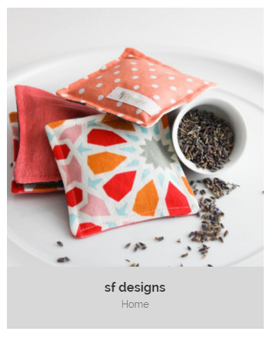 Lavender sachets in colorful prints with dried lavender spilling out of a small ceramic dish