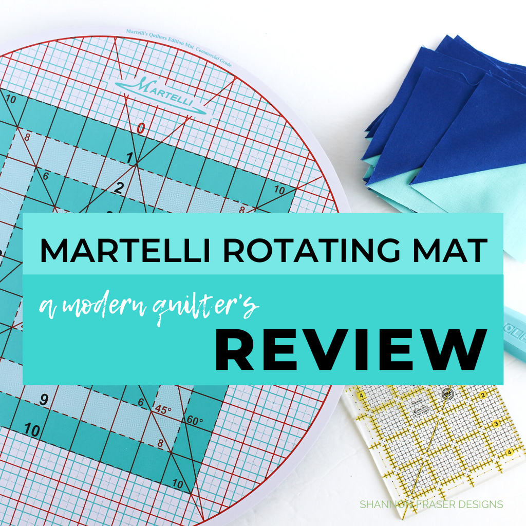 Martelli Round-about Rotating Mat - A modern quilter's review | Shannon Fraser Designs