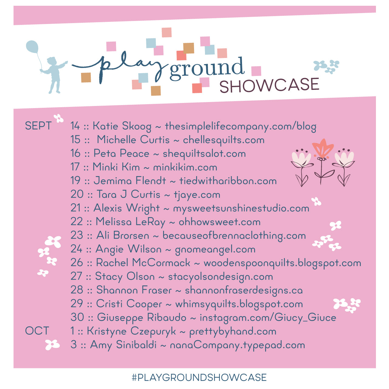 Playground Showcase Graphic with participants | Shannon Fraser Designs