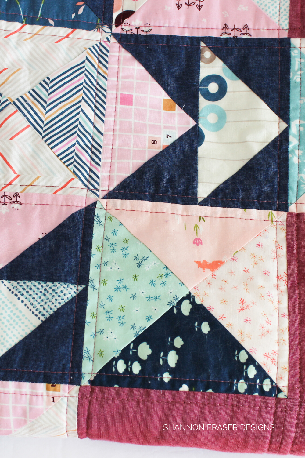 Quilting details on the Playtime quilt | Playground showcase | Shannon Fraser Designs #quilting