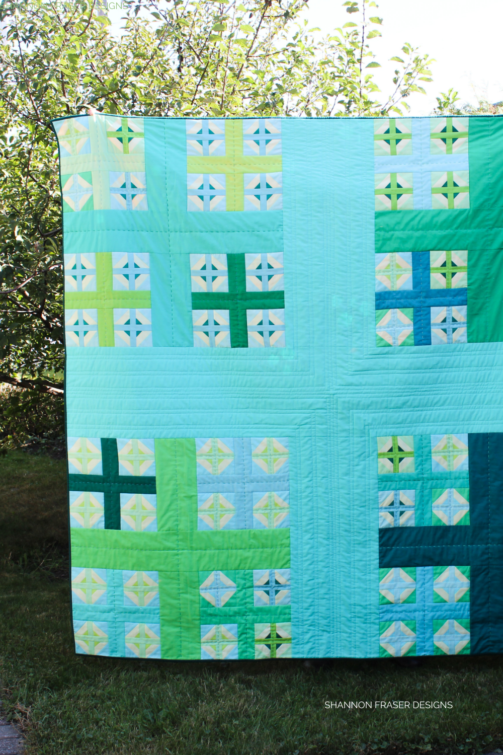 Plus Infinity quilt in the wild