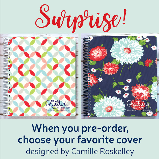 2019 Quilter's Planner  cover options