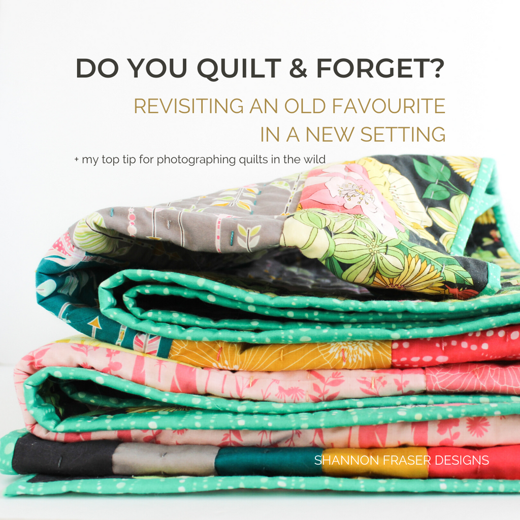 Reverberance - Joy version folded up accordion style | Do you quilt & forget? Revisiting an old favourite in a new setting | Shannon Fraser Designs #logcabinquilt