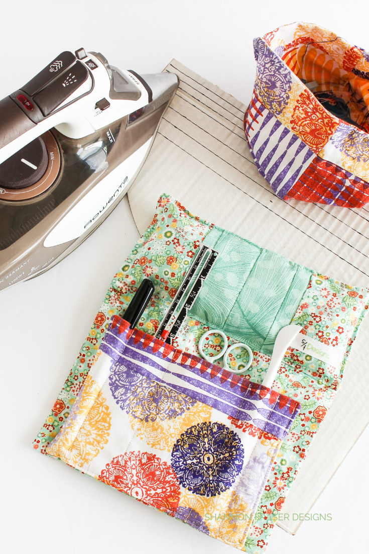 Rowenta iron + Sit 'N Sew Pincushion and thread catcher | Shannon Fraser Designs
