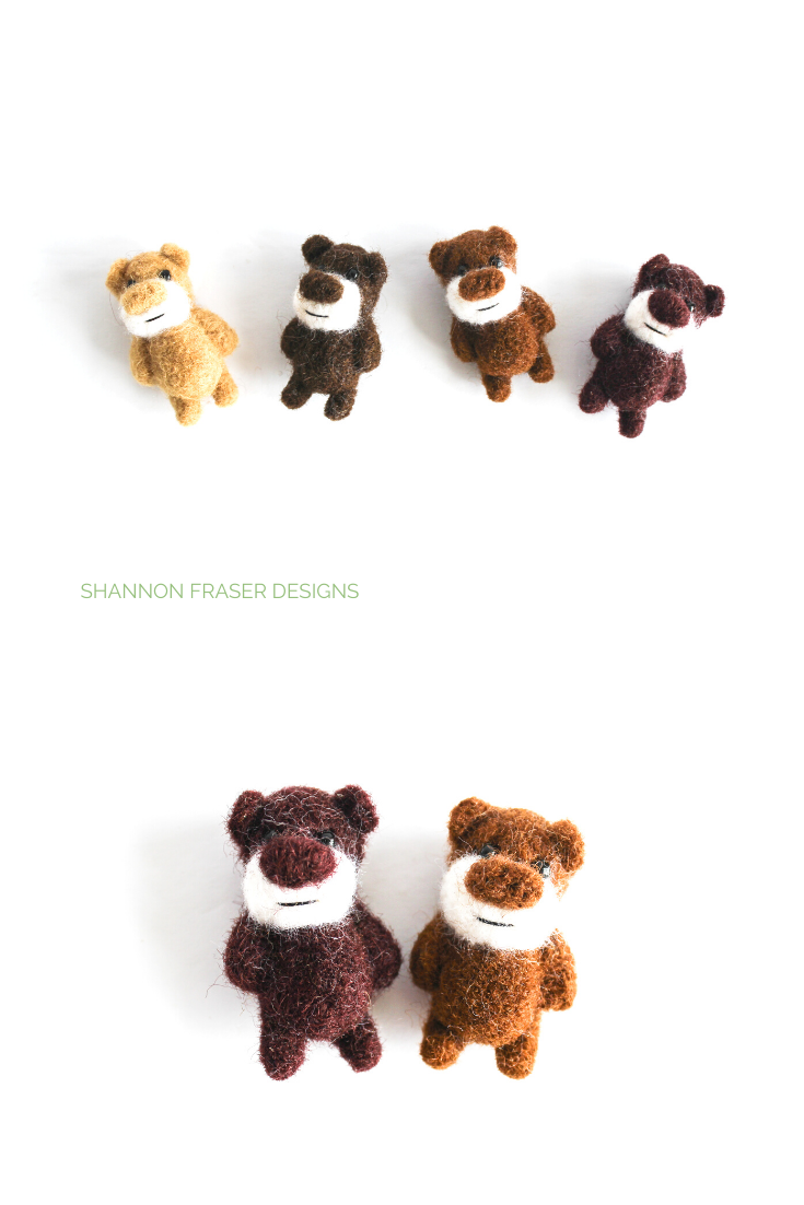 Miniature felt bears | Friday Favourites | Shannon Fraser Designs