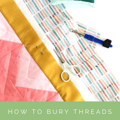 How to bury quilt threads