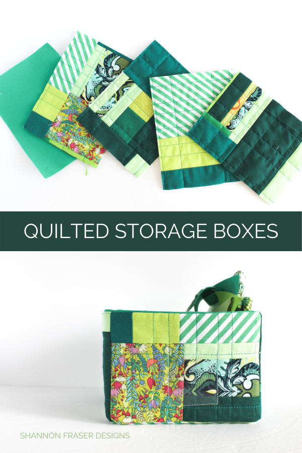 improv quilted storage boxes | Shannon Fraser Designs