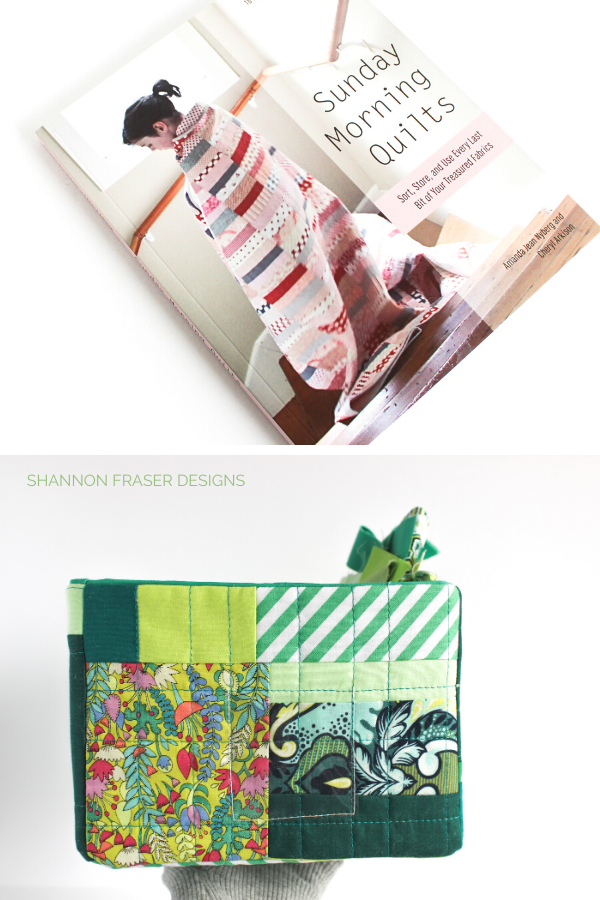 Sunday Morning Quilts book + green improv quilted storage box | Shannon Fraser Designs