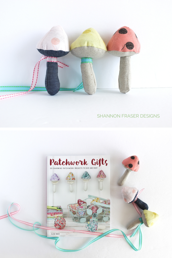 Mushroom Pincushions from the Patchwork & Gifts book | Shannon Fraser Designs