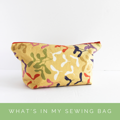 What's in my travel sewing bag