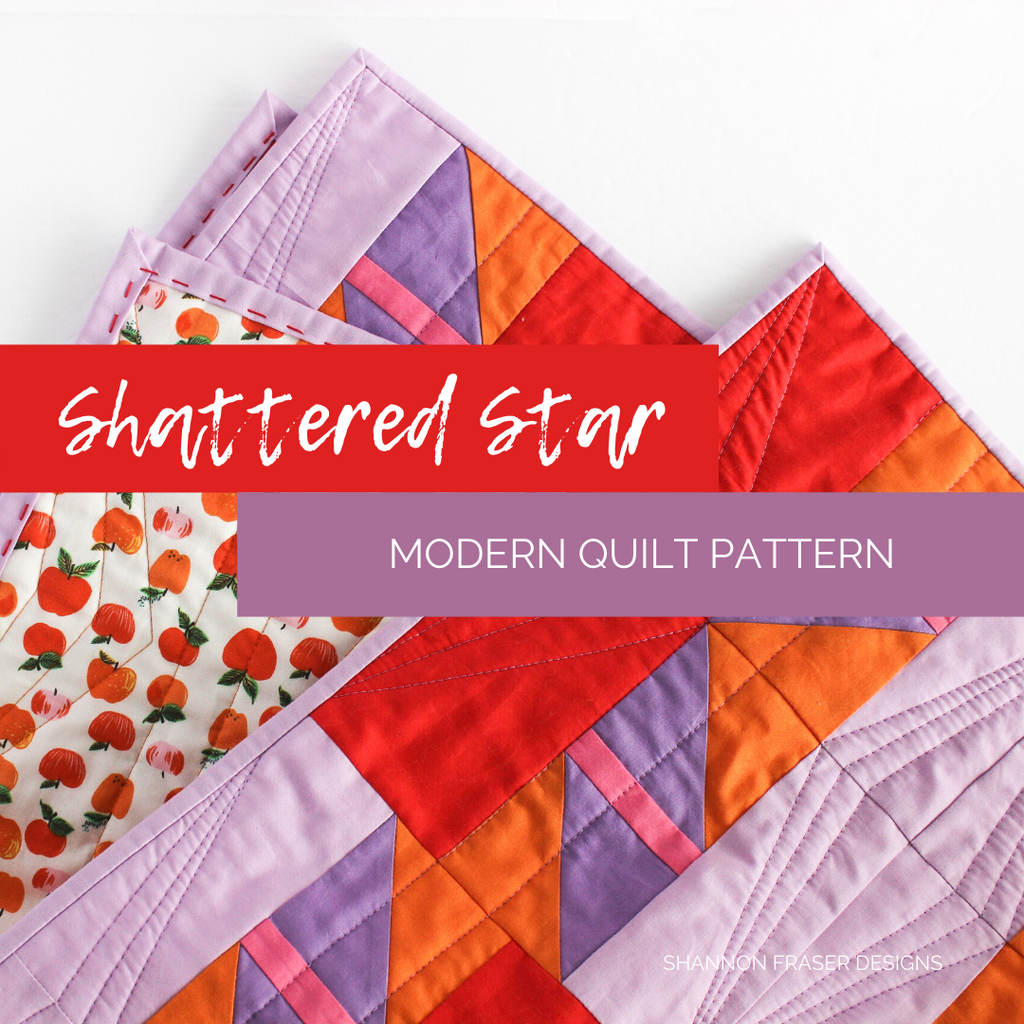 Shattered Star Quilt - the Ruby & Bee solids version | Shattered Star quilt pattern | Shannon Fraser Designs #modernquiltpattern