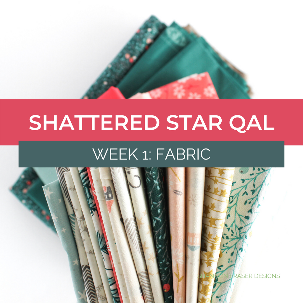 Art Gallery Fabrics featured in the Shattered Star holiday quilt | Shattered Star QAL Week 1: Fabric | Shannon Fraser Designs #fabric